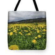 Dandelions Portrait Tote Bag