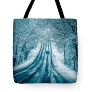 Dangerous Slippery And Icy Road Conditions Tote Bag
