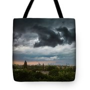Dangerous Stormy Clouds Over Warsaw Tote Bag