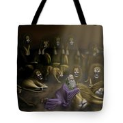 Daniel And The Lions Den Tote Bag