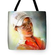 Danny Willett In The Madrid Masters Tote Bag