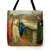 Dante And Beatrice Tote Bag by Henry Holiday