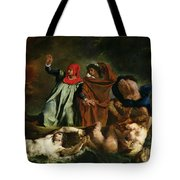 Dante And Virgil In The Underworld Tote Bag