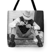 Dapper Man With Toothbrush Tote Bag