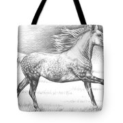 Dapple Grey Horse Tote Bag