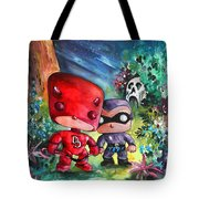 Funkos Daredevil And The Phantom In The Jungle Tote Bag