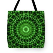 Dark And Light Green Mandala Tote Bag