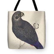 Dark Blue Parrot Tote Bag