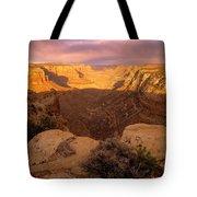 Dark Canyon Sunset Tote Bag