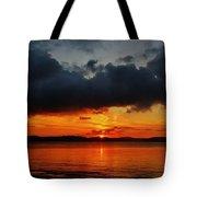 Dark Cloud Sunrise Tote Bag