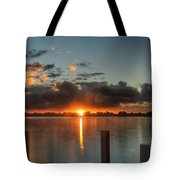 Dark Clouds Horizontal Tote Bag
