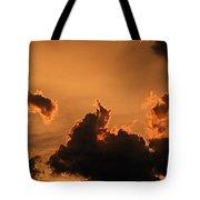 Dark Clouds Looming Tote Bag