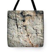 Dark Fissures On Limestone Rock Tote Bag
