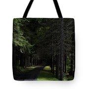 Dark Forest Road Tote Bag