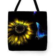 Dark Glow Butterfly Tote Bag