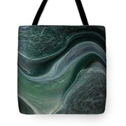 Dark Green Flow Tote Bag