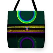 Dark Green Lake Tote Bag