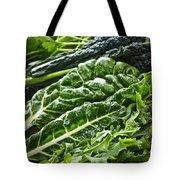 Dark Green Leafy Vegetables Tote Bag by Elena Elisseeva