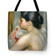 Dark-haired Woman Tote Bag