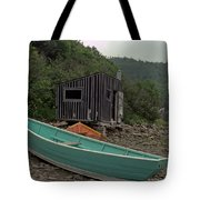 Dark Harbour Fisherman Shack And Boat Tote Bag