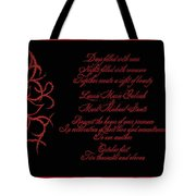 Dark Nights Bright Days Wedding Invitaion Tote Bag