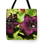 Dark Purple Petunia Tote Bag