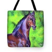 Dark Red Bay Horse Tote Bag