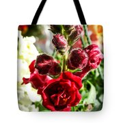 Dark Red Fancy Snapdragon Tote Bag