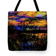 Dark Shadowy Sunset Tote Bag