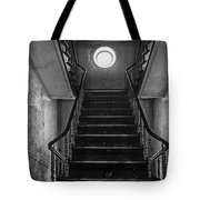 Dark Stairs To Attic - Urban Exploration Tote Bag