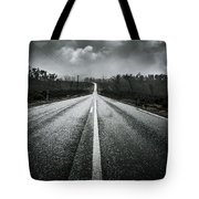 Dark Stormy Road To Cradle Mountain In Tasmania Tote Bag