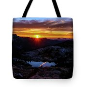 Dark Sunset Over The Cascades Tote Bag