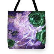 Dark Swan And Roses Tote Bag by Writermore Arts