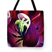 Dark Tulip Macro Tote Bag