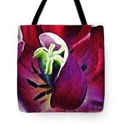 Dark Tulip Macro Square Format Tote Bag