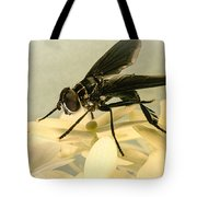 Dark Winged Comb Footed Fly Tote Bag