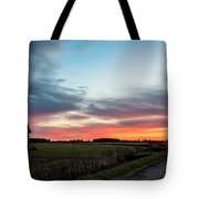 Darkness Ends Tote Bag