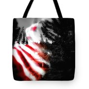 Darkness Falling On Freedom Tote Bag
