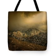Darkness Falls Over The Sandias Tote Bag