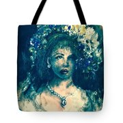 Darling Blue Tote Bag by Laurie Lundquist