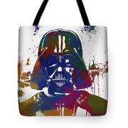 Darth Vader Paint Splatter Tote Bag