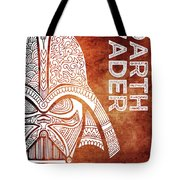 Darth Vader - Star Wars Art - Brown And White Tote Bag
