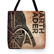 Darth Vader - Star Wars Art - Brown Tote Bag