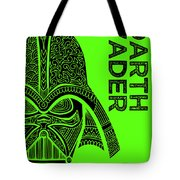 Darth Vader - Star Wars Art - Green Tote Bag