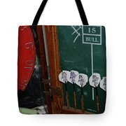 Darts And Board Tote Bag