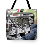 Dashboard Of A Robin Dr400 President Tote Bag