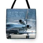 Dassault Falcon 900 Parking With Marshaller Tote Bag