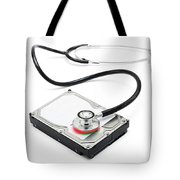 Data Recovery Stethoscope And Hard Drive Disc Tote Bag
