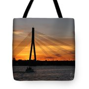 Daugava Sunset. Riga. Latvia Tote Bag