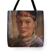 Daughter Of The Artist 1933 Kuzma Sergeevich Petrov-vodkin Tote Bag